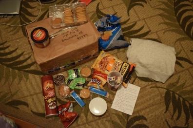 Mom sent me a bevy of snacks