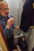 delbert in the shower